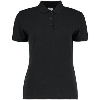 vaatteet Naiset Lyhythihainen poolopaita Kustom Kit KK213 Black