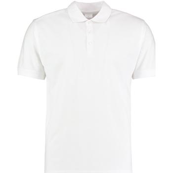 vaatteet Miehet Lyhythihainen poolopaita Kustom Kit KK413 White