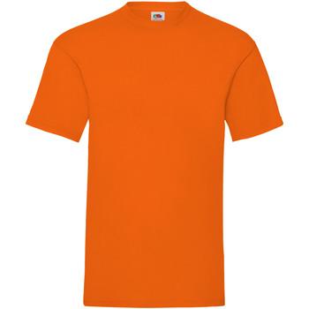 vaatteet Miehet Lyhythihainen t-paita Fruit Of The Loom 61036 Orange