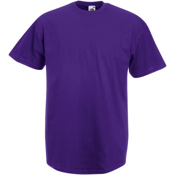 vaatteet Miehet Lyhythihainen t-paita Fruit Of The Loom 61036 Purple