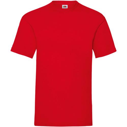 vaatteet Miehet Lyhythihainen t-paita Fruit Of The Loom 61036 Red