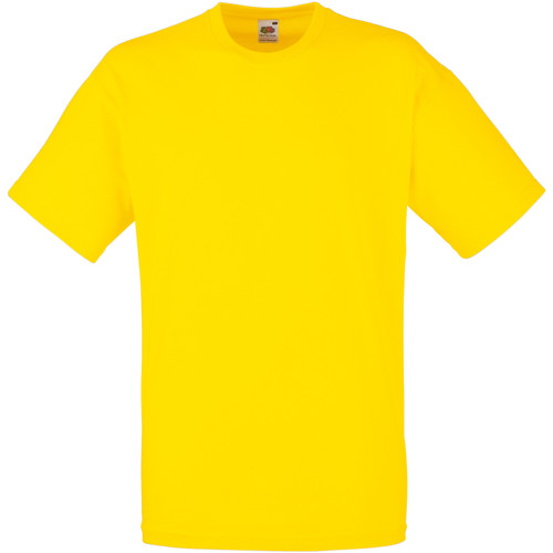 vaatteet Miehet Lyhythihainen t-paita Fruit Of The Loom 61036 Yellow