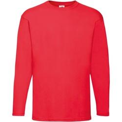 vaatteet Miehet T-paidat pitkillä hihoilla Fruit Of The Loom 61038 Red