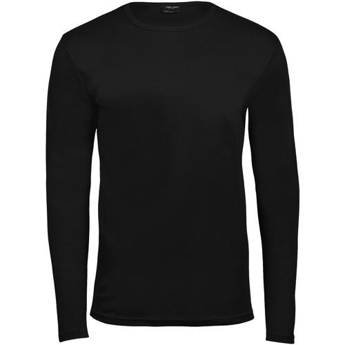 vaatteet Miehet T-paidat pitkillä hihoilla Tee Jays TJ530 Black