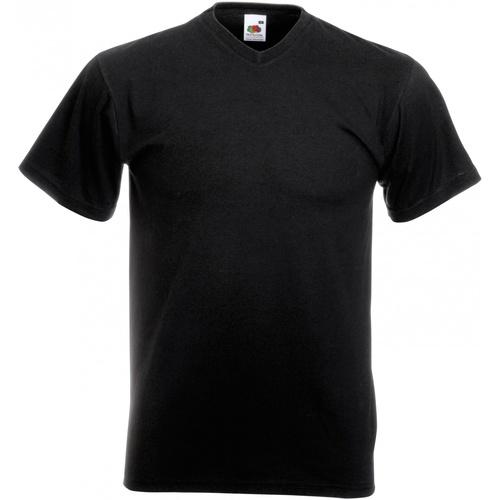vaatteet Miehet Lyhythihainen t-paita Fruit Of The Loom 61066 Black