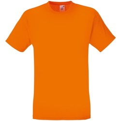vaatteet Miehet Lyhythihainen t-paita Fruit Of The Loom 61082 Orange