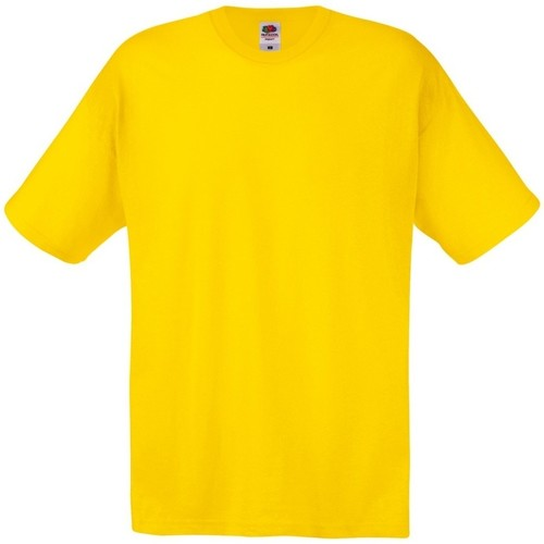 vaatteet Miehet Lyhythihainen t-paita Fruit Of The Loom 61082 Yellow