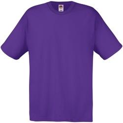 vaatteet Miehet Lyhythihainen t-paita Fruit Of The Loom 61082 Purple