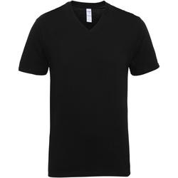 vaatteet Miehet Lyhythihainen t-paita Gildan 41V00 Black