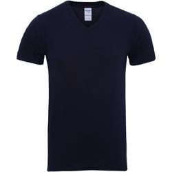 vaatteet Miehet Lyhythihainen t-paita Gildan 41V00 Navy