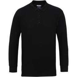 vaatteet Miehet Pitkähihainen poolopaita Gildan 85900 Black