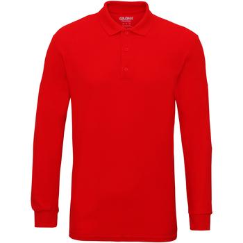 vaatteet Miehet Pitkähihainen poolopaita Gildan 85900 Red
