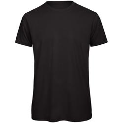 vaatteet Miehet Lyhythihainen t-paita B And C TM042 Black