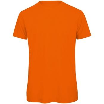 vaatteet Miehet Lyhythihainen t-paita B And C TM042 Orange