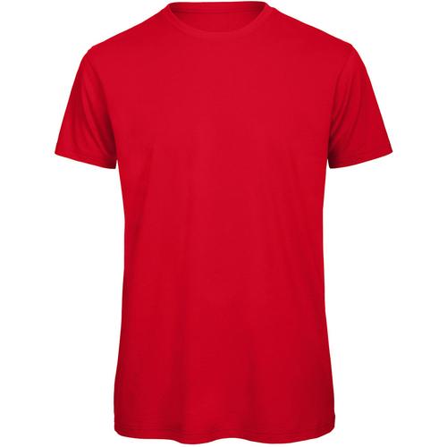 vaatteet Miehet Lyhythihainen t-paita B And C TM042 Red