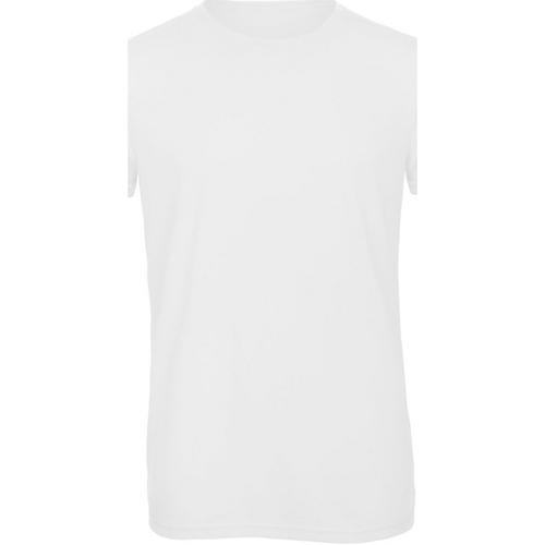 vaatteet Miehet Lyhythihainen t-paita B And C TM055 White