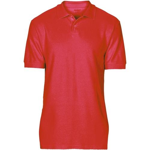 vaatteet Miehet Lyhythihainen poolopaita Gildan 64800 Red