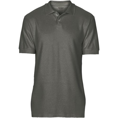 vaatteet Miehet Lyhythihainen poolopaita Gildan 64800 Charcoal