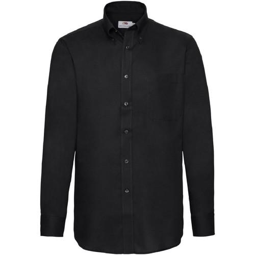vaatteet Miehet Pitkähihainen paitapusero Fruit Of The Loom 65114 Black