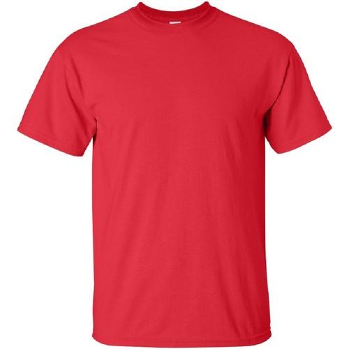 vaatteet Miehet Lyhythihainen t-paita Gildan Ultra Red