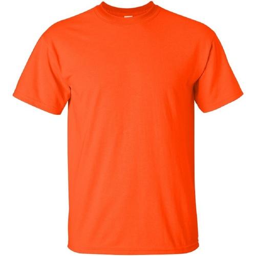 vaatteet Miehet Lyhythihainen t-paita Gildan Ultra Orange