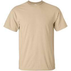vaatteet Miehet Lyhythihainen t-paita Gildan Ultra Tan