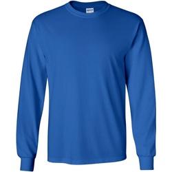 vaatteet Miehet T-paidat pitkillä hihoilla Gildan 2400 Royal