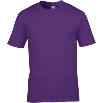 vaatteet Miehet Lyhythihainen t-paita Gildan 4100 Purple