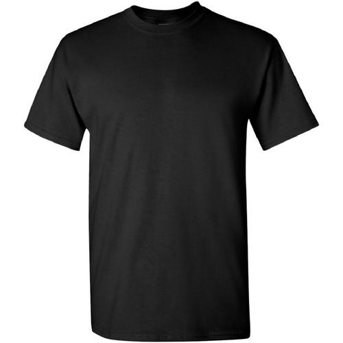 vaatteet Miehet Lyhythihainen t-paita Gildan Heavy Black