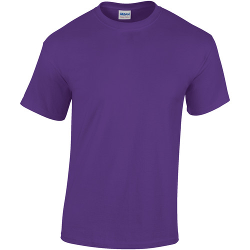 vaatteet Miehet Lyhythihainen t-paita Gildan Heavy Lilac