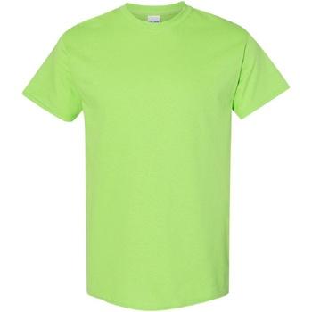 vaatteet Miehet Lyhythihainen t-paita Gildan Heavy Lime