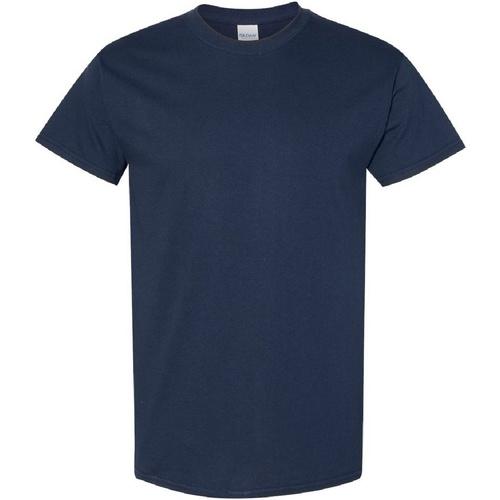 vaatteet Miehet Lyhythihainen t-paita Gildan Heavy Navy