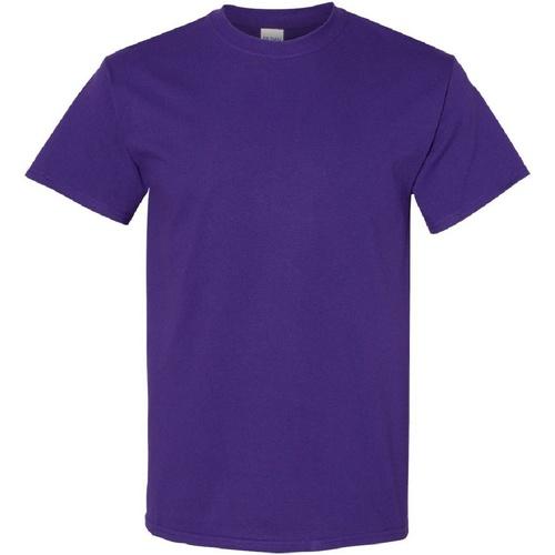 vaatteet Miehet Lyhythihainen t-paita Gildan Heavy Purple