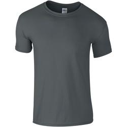 vaatteet Miehet Lyhythihainen t-paita Gildan Soft-Style Charcoal