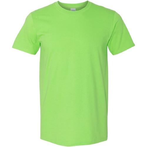 vaatteet Miehet Lyhythihainen t-paita Gildan Soft-Style Lime