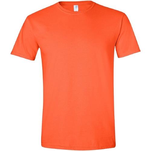 vaatteet Miehet Lyhythihainen t-paita Gildan Soft-Style Orange