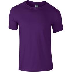 vaatteet Miehet Lyhythihainen t-paita Gildan Soft-Style Purple