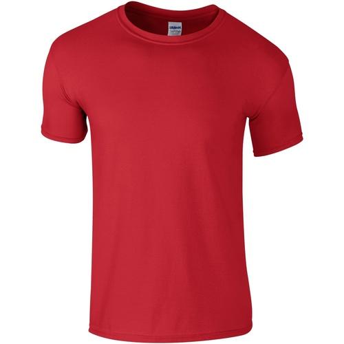 vaatteet Miehet Lyhythihainen t-paita Gildan Soft-Style Red