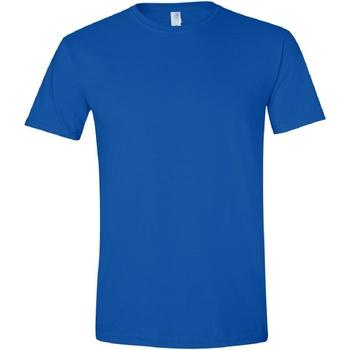 vaatteet Miehet Lyhythihainen t-paita Gildan Soft-Style Royal