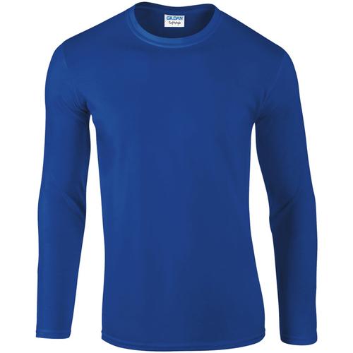 vaatteet Miehet T-paidat pitkillä hihoilla Gildan 64400 Royal