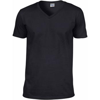 vaatteet Miehet Lyhythihainen t-paita Gildan 64V00 Black