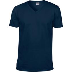 vaatteet Miehet Lyhythihainen t-paita Gildan 64V00 Navy