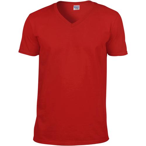 vaatteet Miehet Lyhythihainen t-paita Gildan 64V00 Red