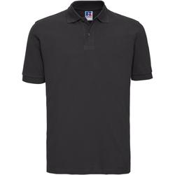 vaatteet Miehet Lyhythihainen poolopaita Russell 569M Black
