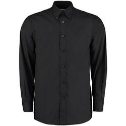 vaatteet Miehet Pitkähihainen paitapusero Kustom Kit KK140 Black