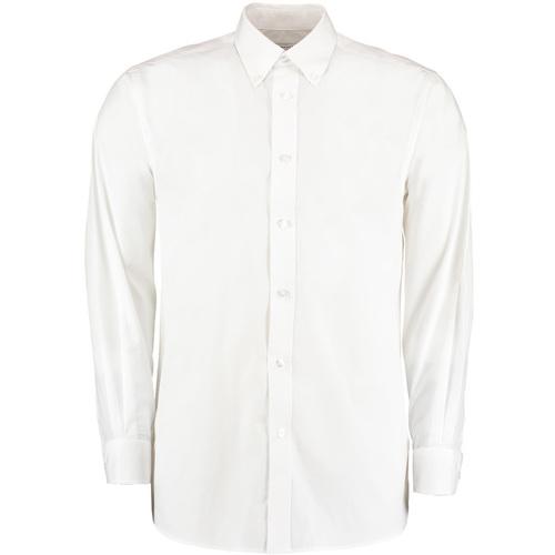 vaatteet Miehet Pitkähihainen paitapusero Kustom Kit KK140 White