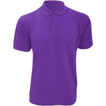 vaatteet Miehet Lyhythihainen poolopaita Kustom Kit KK403 Purple