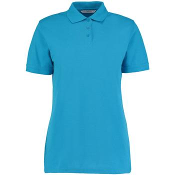 vaatteet Naiset Lyhythihainen poolopaita Kustom Kit Klassic Turquoise