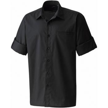 vaatteet Miehet Lyhythihainen paitapusero Premier PR206 Black