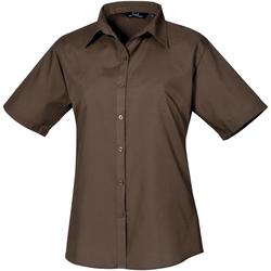 vaatteet Naiset Paitapusero / Kauluspaita Premier PR302 Brown